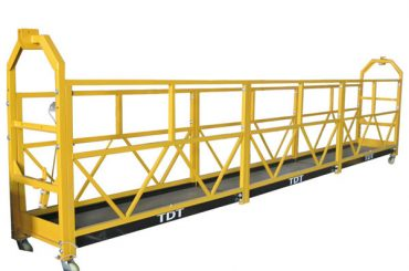 Acél horganyzott alumínium ötvözetből készült kötél felfüggesztett platform 1.5KW 380V 50HZ