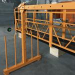 egyfázisú felfüggesztett drótkötél platform 800 kg 1,8 kw, emelési sebesség 8 -10 m / perc
