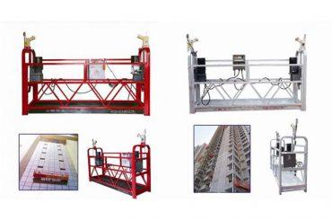 kötélfüggesztett felfüggesztett hozzáférési platform, zlp630 építőipari felvonó gondola gép